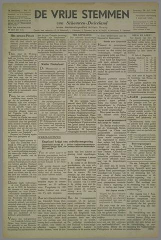 Vrije Stemmen van Schouwen-Duiveland, tevens mededeelingenblad Militair Gezag 1945-07-28