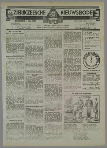 Zierikzeesche Nieuwsbode 1937-07-01