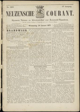 Ter Neuzensche Courant. Algemeen Nieuws- en Advertentieblad voor Zeeuwsch-Vlaanderen / Neuzensche Courant ... (idem) / (Algemeen) nieuws en advertentieblad voor Zeeuwsch-Vlaanderen 1877-01-24