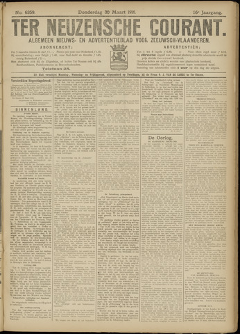Ter Neuzensche Courant. Algemeen Nieuws- en Advertentieblad voor Zeeuwsch-Vlaanderen / Neuzensche Courant ... (idem) / (Algemeen) nieuws en advertentieblad voor Zeeuwsch-Vlaanderen 1916-03-30