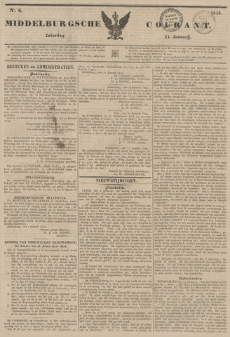 Middelburgsche Courant 1843-01-14