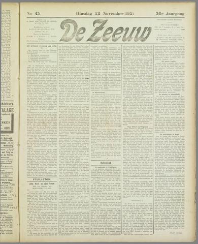 De Zeeuw. Christelijk-historisch nieuwsblad voor Zeeland 1921-11-22