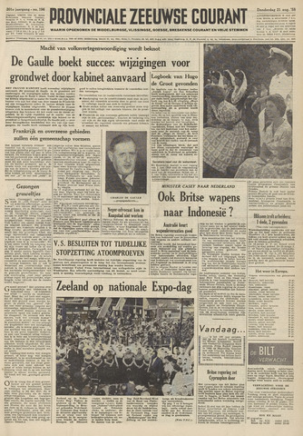 Provinciale Zeeuwse Courant 1958-08-21