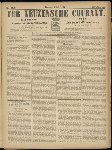 Ter Neuzensche Courant. Algemeen Nieuws- en Advertentieblad voor Zeeuwsch-Vlaanderen / Neuzensche Courant ... (idem) / (Algemeen) nieuws en advertentieblad voor Zeeuwsch-Vlaanderen 1897-07-06