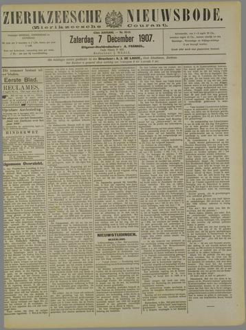 Zierikzeesche Nieuwsbode 1907-12-07