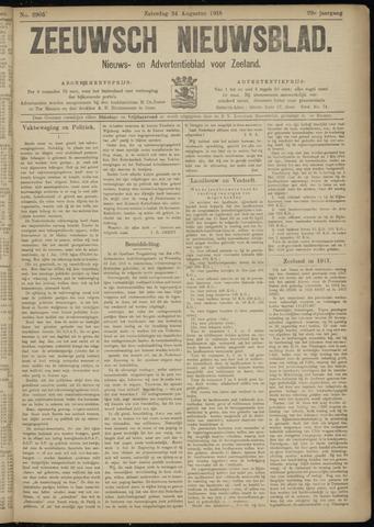Ter Neuzensch Volksblad. Vrijzinnig nieuws- en advertentieblad voor Zeeuwsch- Vlaanderen / Zeeuwsch Nieuwsblad. Nieuws- en advertentieblad voor Zeeland 1918-08-24