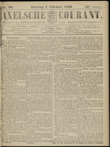 Axelsche Courant 1919-02-01