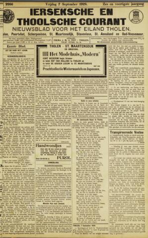 Ierseksche en Thoolsche Courant 1928-09-07