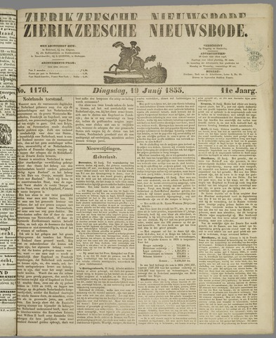 Zierikzeesche Nieuwsbode 1855-06-19