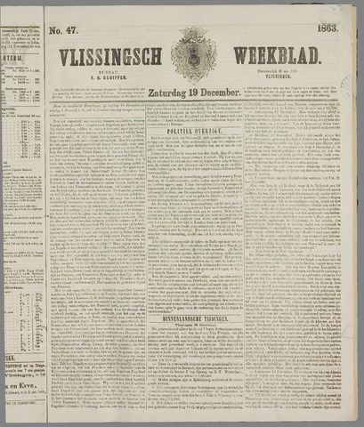 Vlissings Weekblad 1863-12-19