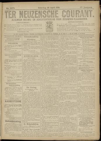 Ter Neuzensche Courant. Algemeen Nieuws- en Advertentieblad voor Zeeuwsch-Vlaanderen / Neuzensche Courant ... (idem) / (Algemeen) nieuws en advertentieblad voor Zeeuwsch-Vlaanderen 1918-04-20