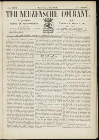 Ter Neuzensche Courant. Algemeen Nieuws- en Advertentieblad voor Zeeuwsch-Vlaanderen / Neuzensche Courant ... (idem) / (Algemeen) nieuws en advertentieblad voor Zeeuwsch-Vlaanderen 1878-05-04