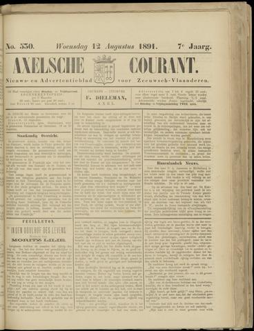 Axelsche Courant 1891-08-12