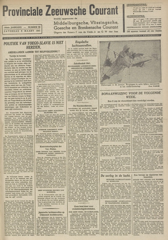Provinciale Zeeuwse Courant 1941-03-08