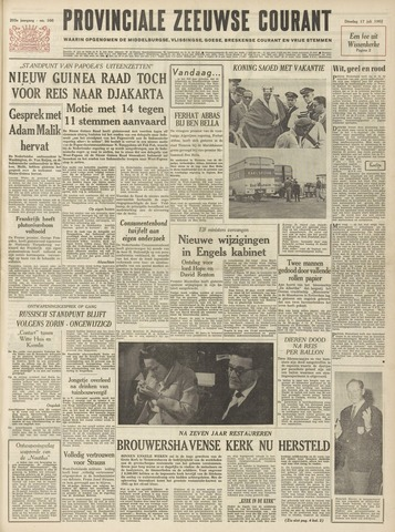 Provinciale Zeeuwse Courant 1962-07-17