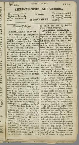 Zierikzeesche Nieuwsbode 1844-11-15