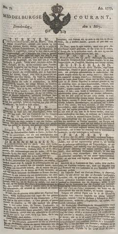 Middelburgsche Courant 1777-05-01