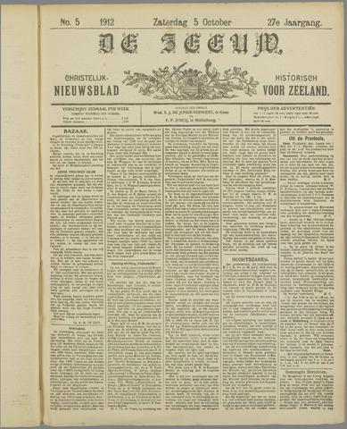 De Zeeuw. Christelijk-historisch nieuwsblad voor Zeeland 1912-10-05