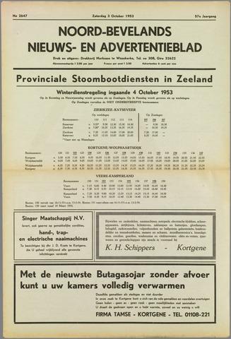Noord-Bevelands Nieuws- en advertentieblad 1953-10-03