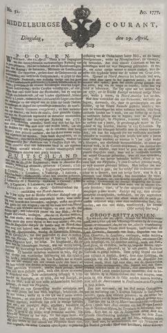 Middelburgsche Courant 1777-04-29