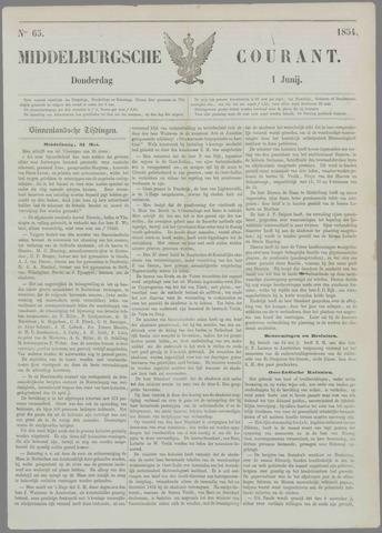 Middelburgsche Courant 1854-06-01