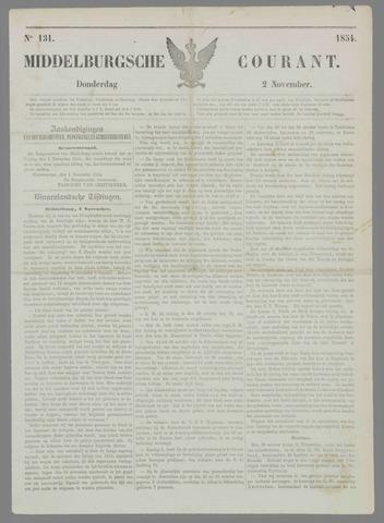 Middelburgsche Courant 1854-11-02