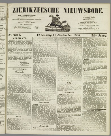 Zierikzeesche Nieuwsbode 1865-09-13