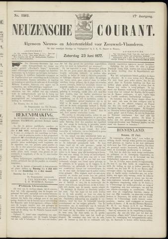 Ter Neuzensche Courant. Algemeen Nieuws- en Advertentieblad voor Zeeuwsch-Vlaanderen / Neuzensche Courant ... (idem) / (Algemeen) nieuws en advertentieblad voor Zeeuwsch-Vlaanderen 1877-06-23