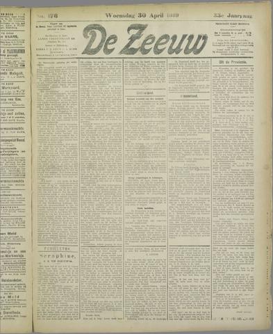 De Zeeuw. Christelijk-historisch nieuwsblad voor Zeeland 1919-04-30