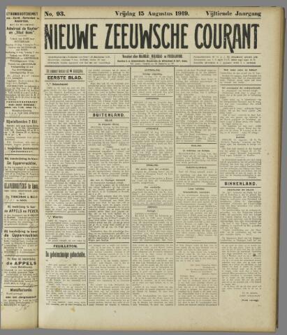 Nieuwe Zeeuwsche Courant 1919-08-15