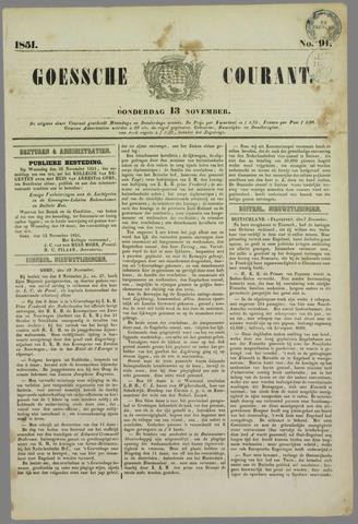Goessche Courant 1851-11-13