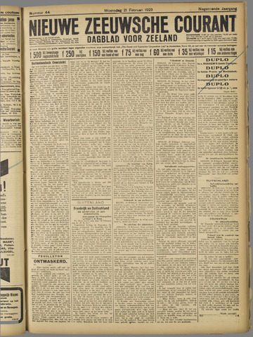 Nieuwe Zeeuwsche Courant 1923-02-21