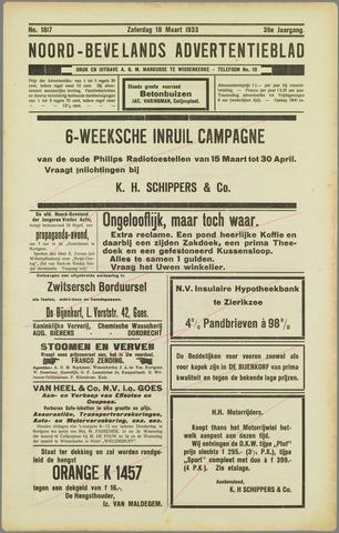 Noord-Bevelands Nieuws- en advertentieblad 1933-03-18
