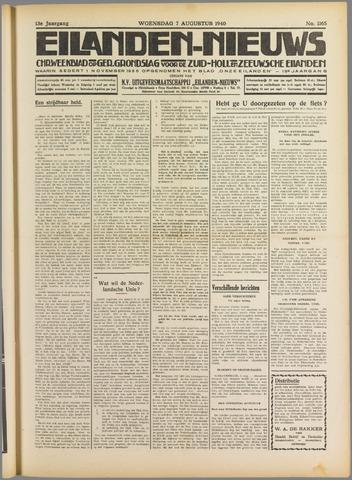Eilanden-nieuws. Christelijk streekblad op gereformeerde grondslag 1940-08-07