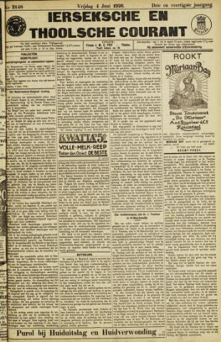 Ierseksche en Thoolsche Courant 1926-06-04