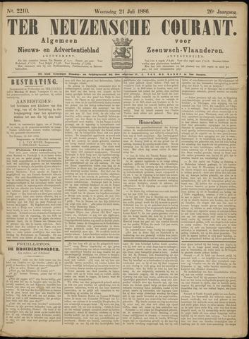 Ter Neuzensche Courant. Algemeen Nieuws- en Advertentieblad voor Zeeuwsch-Vlaanderen / Neuzensche Courant ... (idem) / (Algemeen) nieuws en advertentieblad voor Zeeuwsch-Vlaanderen 1886-07-21