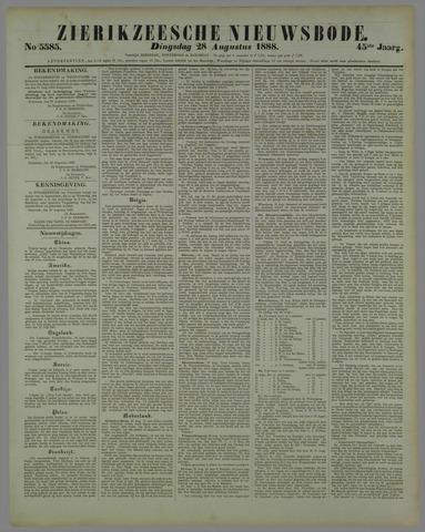 Zierikzeesche Nieuwsbode 1888-08-28