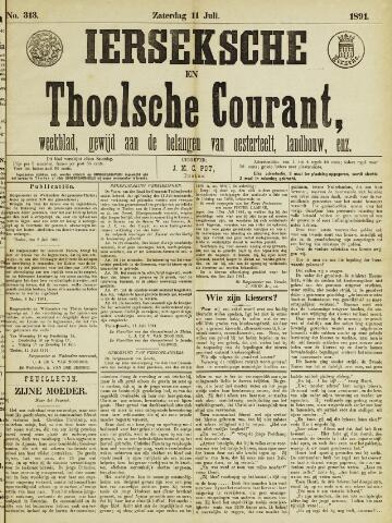 Ierseksche en Thoolsche Courant 1891-07-11
