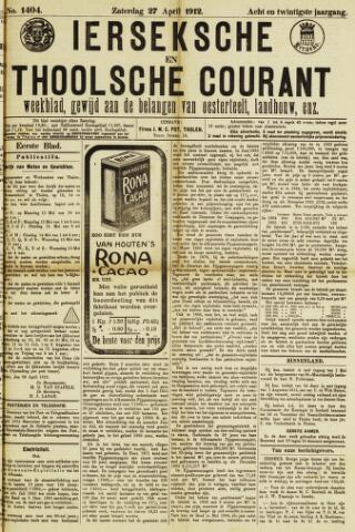 Ierseksche en Thoolsche Courant 1912-04-27
