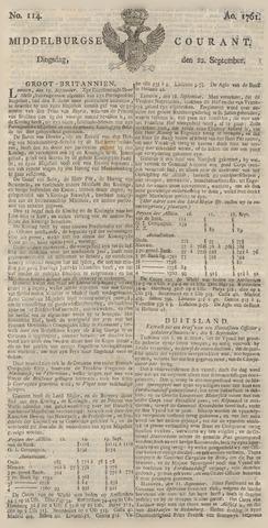 Middelburgsche Courant 1761-09-22