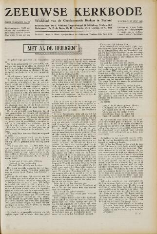 Zeeuwsche kerkbode, weekblad gewijd aan de belangen der gereformeerde kerken/ Zeeuwsch kerkblad 1950-11-17