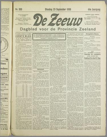 De Zeeuw. Christelijk-historisch nieuwsblad voor Zeeland 1930-09-23