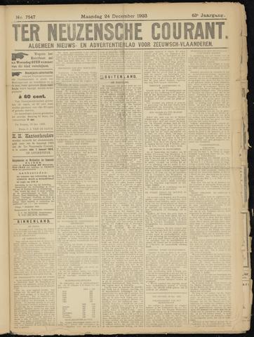 Ter Neuzensche Courant. Algemeen Nieuws- en Advertentieblad voor Zeeuwsch-Vlaanderen / Neuzensche Courant ... (idem) / (Algemeen) nieuws en advertentieblad voor Zeeuwsch-Vlaanderen 1923-12-24