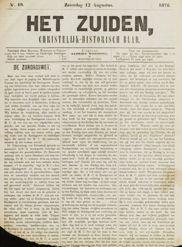 Het Zuiden, Christelijk-historisch blad 1876-08-12