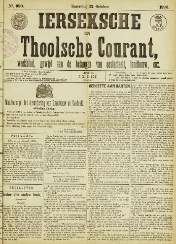Ierseksche en Thoolsche Courant 1892-10-22