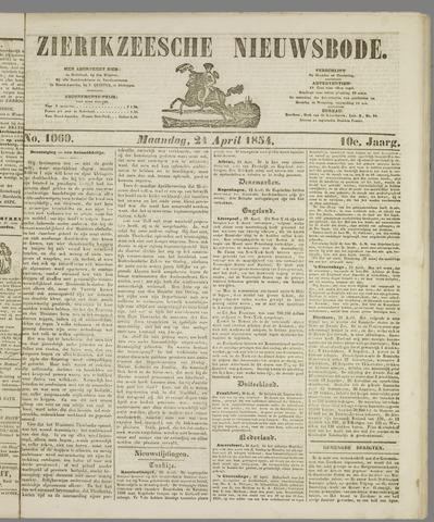 Zierikzeesche Nieuwsbode 1854-04-24