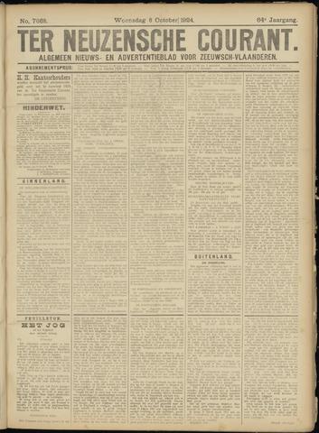 Ter Neuzensche Courant. Algemeen Nieuws- en Advertentieblad voor Zeeuwsch-Vlaanderen / Neuzensche Courant ... (idem) / (Algemeen) nieuws en advertentieblad voor Zeeuwsch-Vlaanderen 1924-10-08