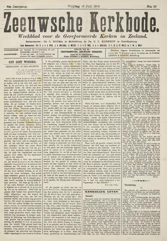 Zeeuwsche kerkbode, weekblad gewijd aan de belangen der gereformeerde kerken/ Zeeuwsch kerkblad 1918-07-19
