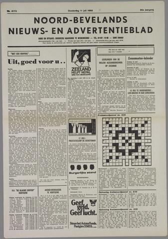 Noord-Bevelands Nieuws- en advertentieblad 1985-07-11