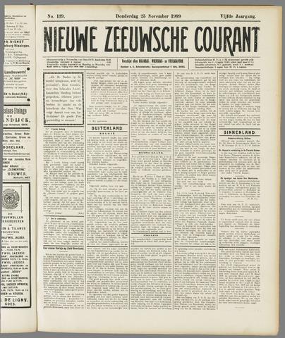Nieuwe Zeeuwsche Courant 1909-11-25